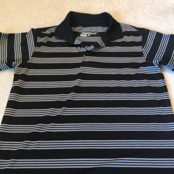 Nike Other - Nike boys golf shirt black white stripe youth L